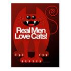 REAL MEN LOVE CATS POSTCARD