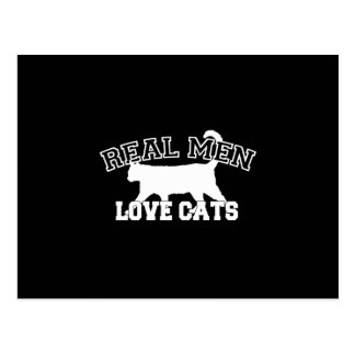 Real Men Love Cats Silhouette Postcard
