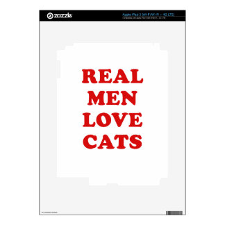 Real Men Love Cats Skin For iPad 3
