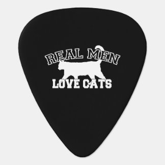 Real Men Love Cats This one is white Guitar Pick