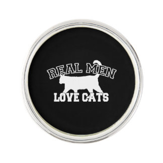 Real Men Love Cats This one is white Pin