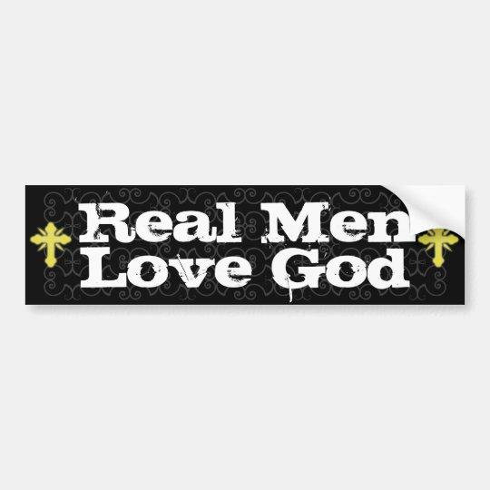 Real Men Love God Christian Bumper Sticker
