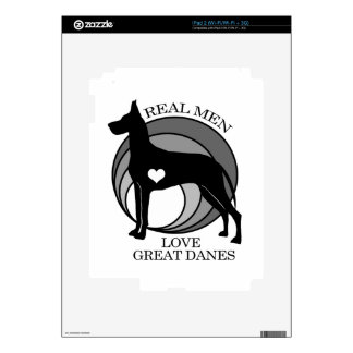 Real Men Love Great Danes Decal For The iPad 2