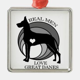 Real Men Love Great Danes Metal Ornament