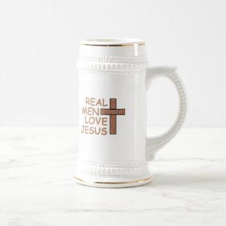 Real Men Love Jesus Beer Stein