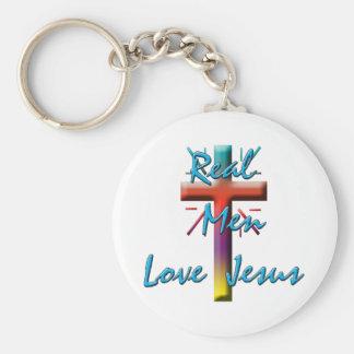 REAL MEN LOVE JESUS KEYCHAIN