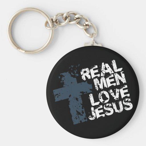 Real Men Love Jesus Key Chain