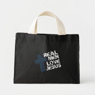 Real Men Love Jesus Mini Tote Bag