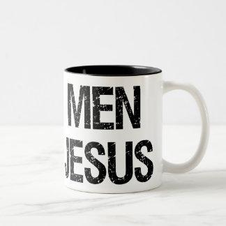 Real Men Love Jesus Two-Tone Coffee Mug