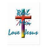 REAL MEN LOVE JESUS POSTCARD