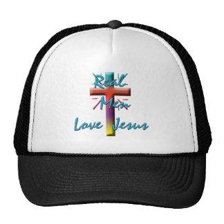 REAL MEN LOVE JESUS TRUCKER HAT