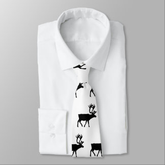 Real Men Love Moose Patterned Tie