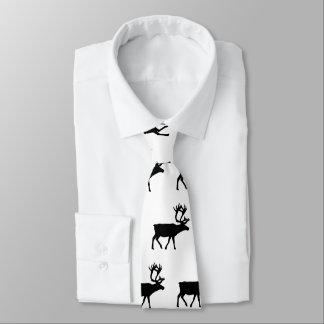 Real Men Love Moose Patterned Tie