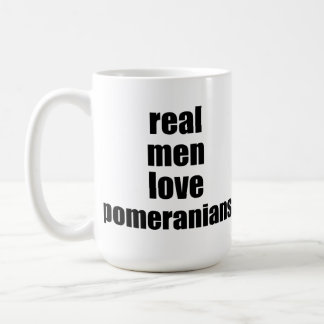 Real Men Love Pomeranians Classic White Coffee Mug