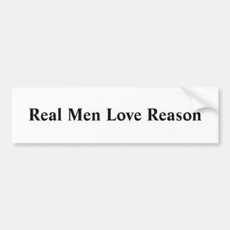 Real Men Love Reason Car Bumper Sticker