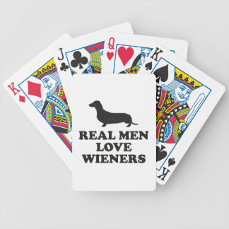 Real Men Love Wieners Bicycle Playing Cards