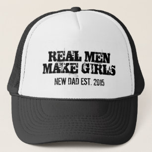 636ff727d Real men make girls trucker hat for new dad father