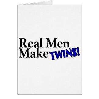 Real Men Make Twins (B) Greeting Card