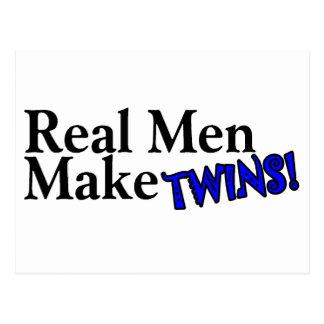 Real Men Make Twins (B) Postcard