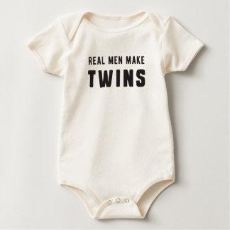 Real Men Make Twins Baby Bodysuit
