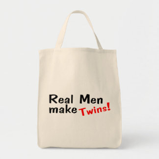 Real Men Make Twins Canvas Bags