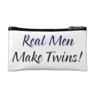 Real Men Make Twins Cosmetic Bags
