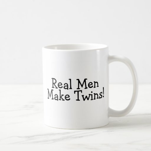 Real Men Make Twins (Blk) Classic White Coffee Mug