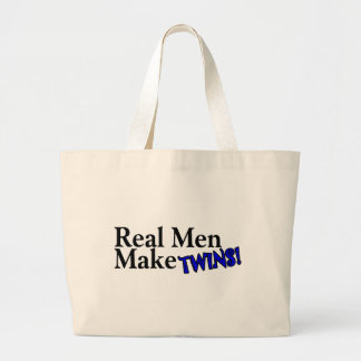 Real Men Make Twins Blue Bags