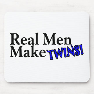 Real Men Make Twins Blue Mouse Pad