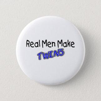 Real Men Make Twins Blue Pinback Button