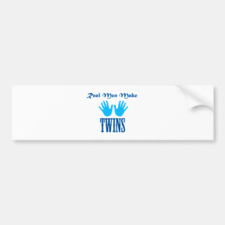 Real Men Make Twins (Boy/Boy) Car Bumper Sticker