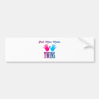 Real Men Make Twins (Boy/Girl) Car Bumper Sticker