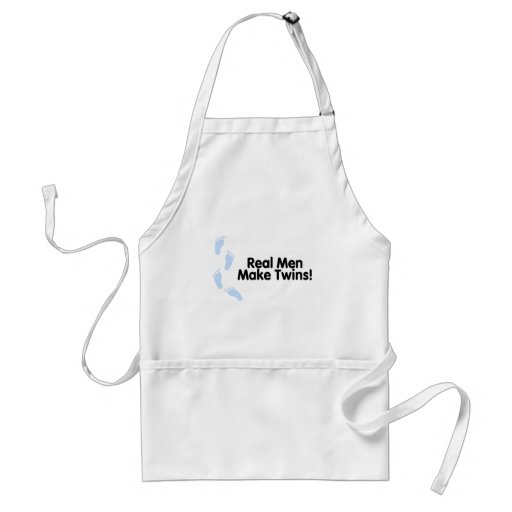Real Men Make Twins (Boys) Adult Apron