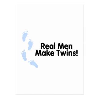 Real Men Make Twins (Boys) Postcard