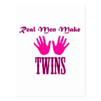 Real Men Make Twins (Girl/Girl) Postcard