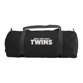 Real men make twins gym bag