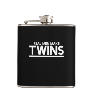 Real Men make twins Hip Flask