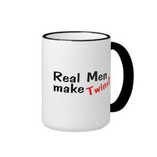 Real Men Make Twins Ringer Coffee Mug