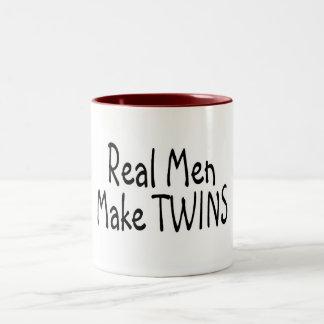 Real Men Make Twins Two-Tone Coffee Mug