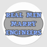 Real Men Marry Engineers Round Sticker