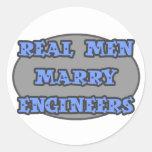 Real Men Marry Engineers Round Sticker