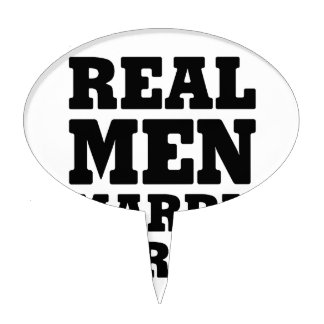 Real Men Marry Nurses Cake Topper