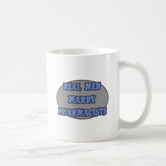Real Men Marry Pharmacists Classic White Coffee Mug