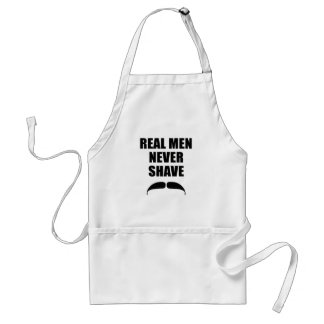 Real Men Never Shave Adult Apron