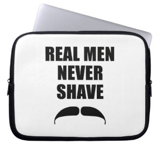 Real Men Never Shave Laptop Sleeve