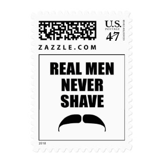 Real Men Never Shave Stamp