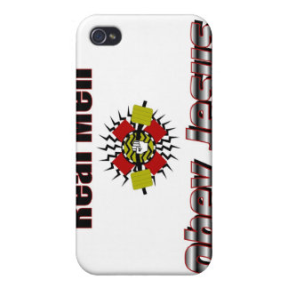 Real men obey Jesus Christian saying iPhone 4/4S Cover