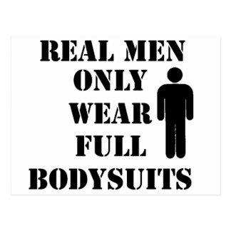 Real Men Only Wear Full Bodysuits Scuba Humor Postcard