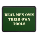Real Men Own Tools Trailer Hitch Cover (Greem_
