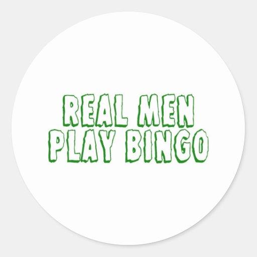 Real Men Play Bingo 2 Classic Round Sticker